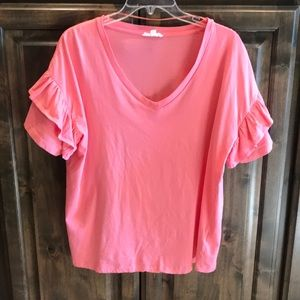 Like new a loves a V-neck Coral Tee Shirt M $69!